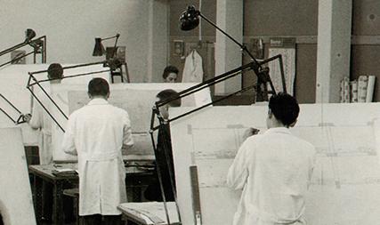 Studio progettazione anni '70 Sisme